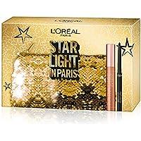 L'Oréal Paris Cofanetto Idea Regalo, Mascara Volumizzante Paradise e Eyeliner Nero Super Mat-Matic, Pochette 2 Pezzi Star Light in Paris