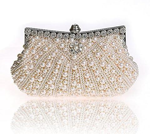Heyjewels Sac Perle Elégant Mariage Soirée Multi-Style Multicolore style 2 Rose