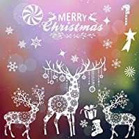Merry Christmas Window Stickers, Christmas Wall Sticker, Window Door Xmas Home Decorations
