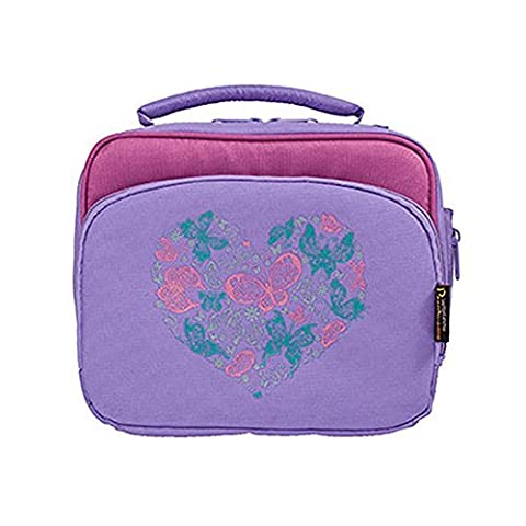 Insulated Lunch Bag - Multi-Compartment Bento Box Carrier Tote - For Kids and Adults - Butterfly Heart by Laptop Lunches Bento-ware