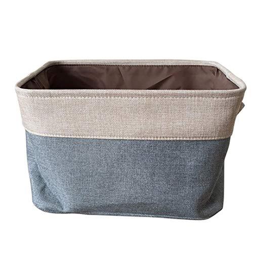 STUOHDS Vorratsbehälter Korb Spielzeug Kleidung Handtuch Wäsche Makeup Box Ablagekorb Schreibtisch Container Halter Veranstalter Dark Gray S