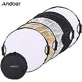 Andoer® 110cm 5in1 Redondo Multi-Disc Reflector Plegable Portátil de Foto Estudio Fotografía Video