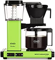 Moccamaster KBG 741 10-Cup Coffee Brewer with Glass Carafe, Fresh Green by Technivorm Moccamaster