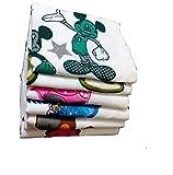LILY Bath Towels-White Medium Cartoon(Se...
