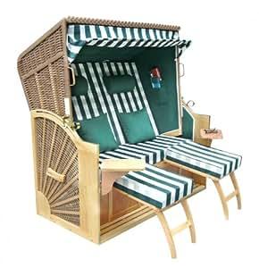 Benedomi fauteuil cabine de plage strandkorb 2 places en - Cabine de plage en bois pour jardin ...