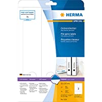 Herma 5159 - Pack de 75 etiquetas, 59 x 297 mm, color blanco