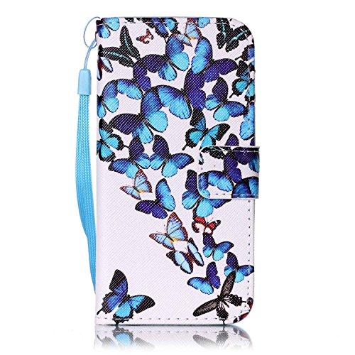 Roreikes Apple iphone 6S Coque, iphone 6 Case(4,7 Zoll) , Motif Fleur Strap Wallet Case Cover Colorful Cuir Retro PU flip Case Téléphone Mobile dans le livre de style étui en cuir de cas de téléphone  5#