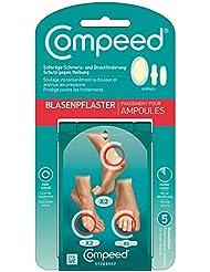 COMPEED Blasenpflaster Mixpack / 5 Pflaster in 3 unterschiedlichen Größen für Blasen an den Füßen / Für unterwegs / 1 x 5 Stück