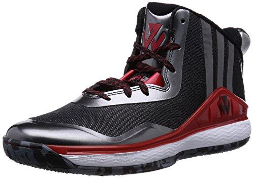 Adidas J parete, nero / rosso / bianco, 8 M Us