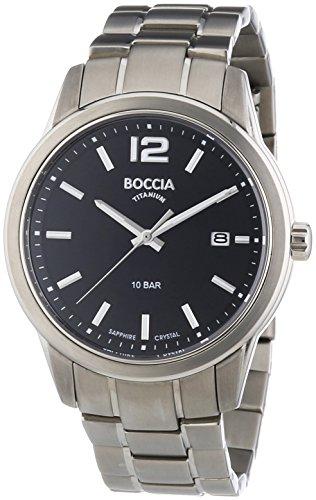 Boccia - 3581-01 - Montre Homme - Quartz Analogique - Bracelet Titane Argent