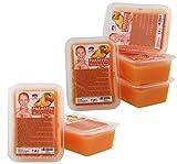 Kosmetex Paraffinbad, Paraffin-wachs mit niedrigeren Schmelzpunkt, Pfirsich Duft, 6x 500ml Pfirsich