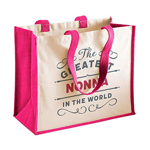 Nonna Gift, Nonna Birthday Bag, Personalised Nonna Gift, Nonna Present, Nonna Bag, Great Nonna Gifts, Nonna Funny Gifts, Nonna Gifts from Daughter, Nonna Keepsake, Tote, Shopping Bag (Fuchsia)