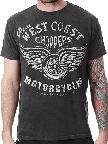 T-Shirt West Coast Choppers Real Vintage Nero (Xxl , Nero)
