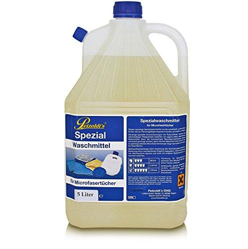 5 Liter Petzoldt\'s Spezial Waschmittel für Microfaser-Poliertücher die zur Fahrzeugpflege verwendet werden, Microfaserwaschmittel, Mikrofaser