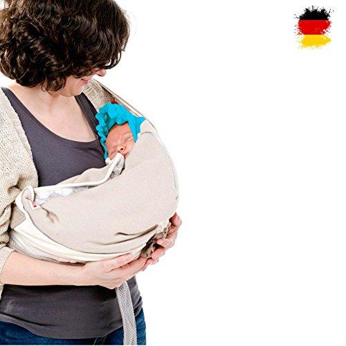 Lodger Shelter 2.0 - 3in1 Babytrage, Babytragetuch, Babysling Transportdecke für Babys und Eltern, ab Geburt bis 18M (max.12kg) Polyster Cover