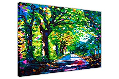Forest Path Abstract Canvas Wall Art Prints Floral Pictures Photos Oil Painting Reprint Room DÉcor - cheap UK canvas store.