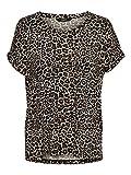 ONLY NOS Damen T-Shirt onlMOSTER AOP S/S TOP NOOS JRS Mehrfarbig (Black Leo), 40 (Herstellergröße: L)