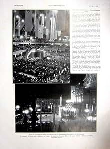 Stampa 1936 del francese della germania hitler di campagna for Design della casa di campagna francese