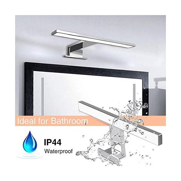 Apliques Espejo Baño LED Impermeable IP44, Hommie 30cm con Interruptor Cableado y Inalámbrico, Luz Espejo Baño 4000K…