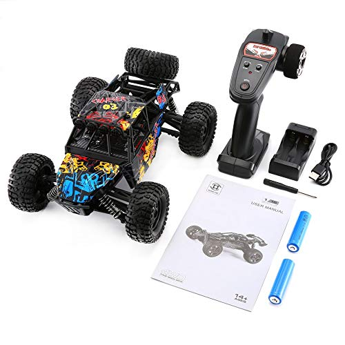 CHOULI G173 1/16 High Speed   RC Rennwagen Klettern Fernbedienung Buggy Road Truck Schwarz - Gas-rc-car Motoren