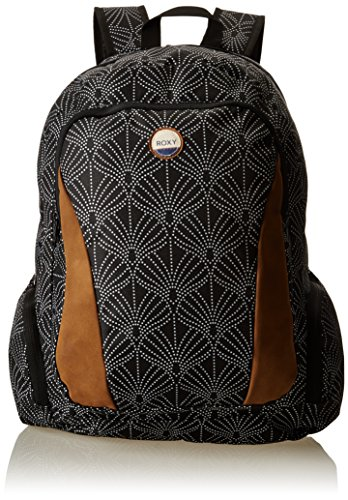 Roxy Alright - Mochila casual, color negro / marrón, 25 litros, 40 cm