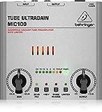 Behringer MIC100 - Tube Ultragain Preamplificatore Microfonico e Limiter Valvolare, colore Argento