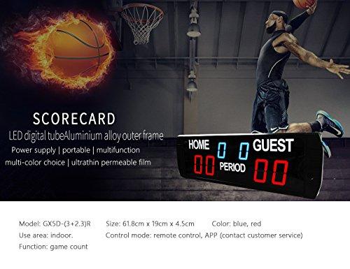 ganxin LED-Anzeigetafel Innenbereich Basketball/Fußball Spiel Timer Größe: 618mm X 190mm x 450mm