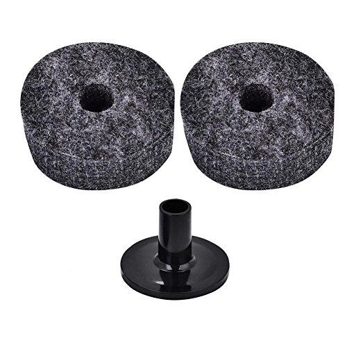 Dilwe 2PCS 4 piatti drum supporto feltro rondelle e 1PCS plastica maniche lunghe per piatti set