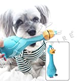 #5: Dog Safe Soft Fun Sound Toys Latex Screaming Chicken Toys Pet Squeaky Duck Toys- Blue Color