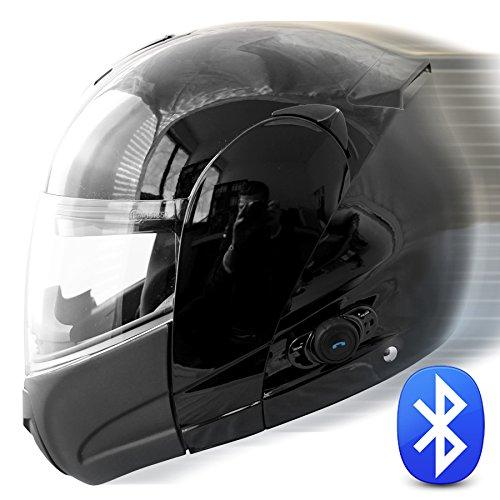 Preisvergleich Produktbild Klapphelm Motorradhelm Herlm TECNO in anthrazit - S - B-WARE (Keine Garantie für Bluetoothfunktion)