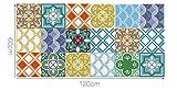 """Alwayspon Azulejos de Vinilo Suelo Sticker, Impermeable Antideslizante Azulejos de la Etiqueta para la Cocina Y Baño 23.6X47.2"""" /, PC 1 Mediterranean 60x120cm (Moroccan, 60x120cm)"""