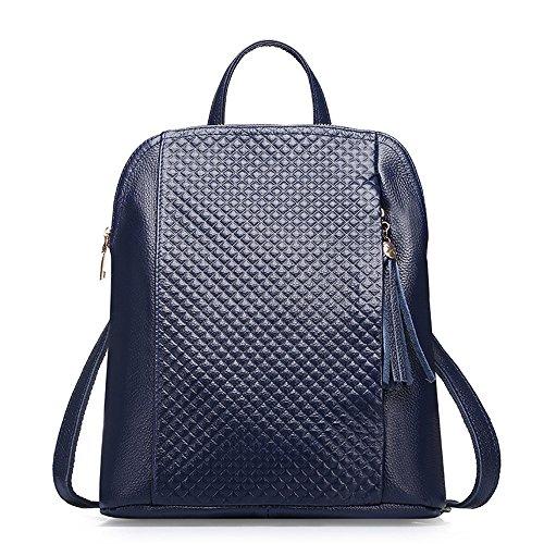 La sig.ra dual borse a tracolla elegante pelle spalla spalle due pacchetti primo strato di vacchetta Ms. confezione Zaino di massa degli studenti' schoolbags C C
