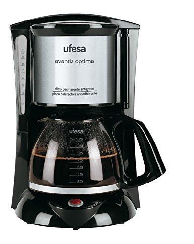 Ufesa CG7232 - Cafetera de goteo, 800 W, capacidad de 10 tazas...