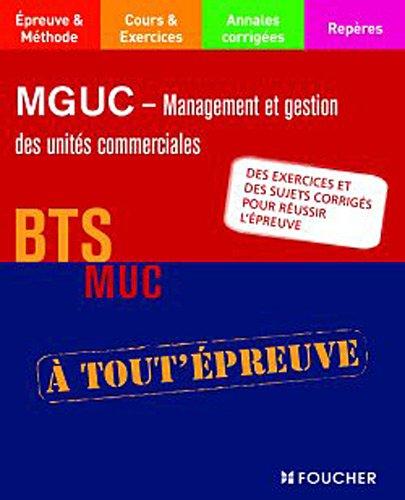 MGUC - Management et gestion des units commerciales