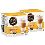 Nescafé Dolce Gusto Latte Macchiato Light, weniger Kalorien, Kaffee, Kaffeekapsel, 2er Pack, 2 x 16 Kapseln (16 Portionen)