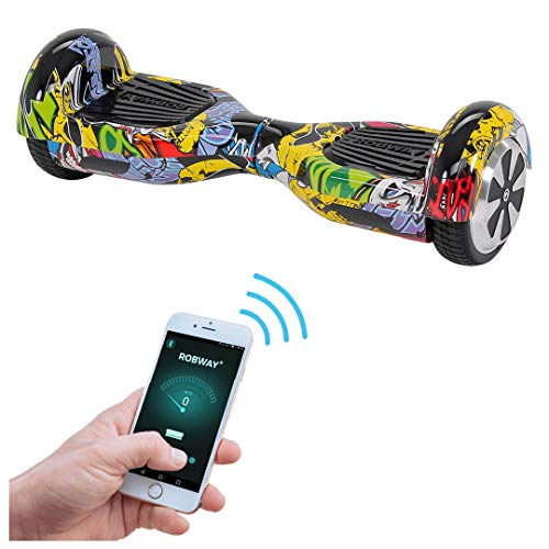 Robway W1 Hoverboard - UL2272 Akku - Self Balance - 11 Farben - Bluetooth - 2 x 350 Watt Motoren - App - 6,5 Zoll Reifen (UL2272 Splash-Yellow)