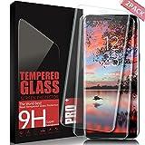 AONSEN Verre Trempé Samsung Galaxy S8, [Lot DE 2] Protection d'écran Vitre Trempée HD, 9H Dureté Anti-Rayures, Hautement Réactif, Couverture Complète Film Protection Galaxy S8 - Transparent