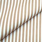 0,5m Streifen-Stoff 5mm beige/ weiß