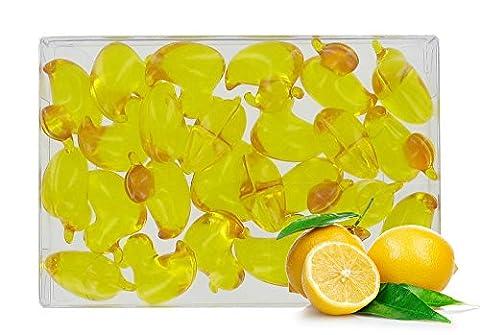 Boîte de 24 perles d'huile de bain fantaisies - Canard parfum citron