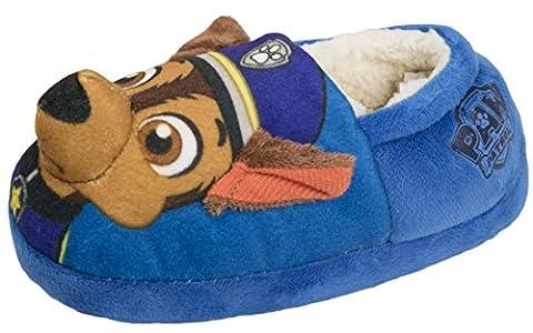 Nickelodeon , Jungen Durchgängies Plateau Sandalen mit Keilabsatz , blau - 3D Chase Slippers - Größe: