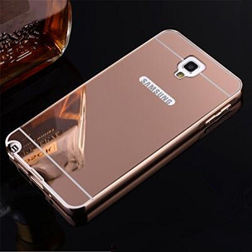 ACCMART Aluminium Metal Bumper With Mirror Acrylic Back Cover For Samsung Galaxy Note 2 / N7100 - ROSE GOLD  available at amazon for Rs.299