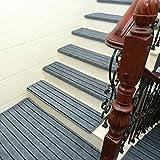 Upgrade Einfache Europa-Stil-Heim Treppe Vustom Kunststoff Anti-Skid Treppen Schritt Matten,Blue