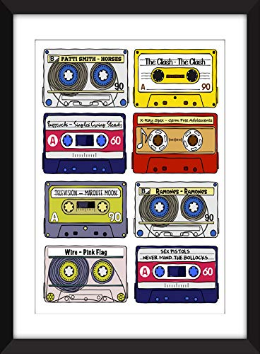 Classic Punk Rock Albums - Unframed Print - Ideal Gift for Music Fan/Ungerahmter Druck -