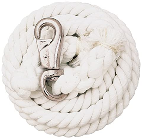 Weaver Leather White Cotton Lead Rope with Nickel Plated Bull Snap, White by Weaver Leather