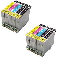 10(4N+2C+2M+2G) Cartucce compatibili T0441 T0442 T0443 T0444 Con Chip per Stampante EPSON Stylus C64 C66 ,C66 Photo Edition, C84 C84N C84WIFI C86 CX3600 CX3650 CX4600 CX6400 CX6600