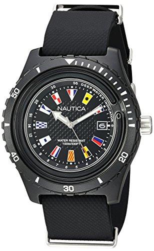 Nautica orologio analogueico quarzo uomo con cinturino in silicone napsrf001
