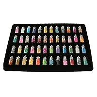 Set 48 Bouteilles Décoration à Ongles Manucure Nail Art DIY Paillettes Billes