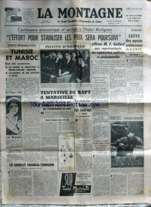 MONTAGNE (LA) du 25/03/1958 - CONFERENCE ECONOMIQU...