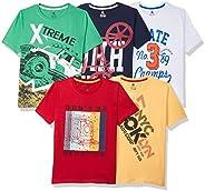 Cloth Theory Boy's Regular fit Cotton T-Shirt( Pack o