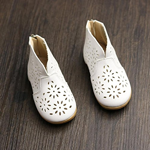 Igemy 1 Paar Baby Mädchen Double Velour Soft Sole Schuh Soft Flats Schuhe Weiß
